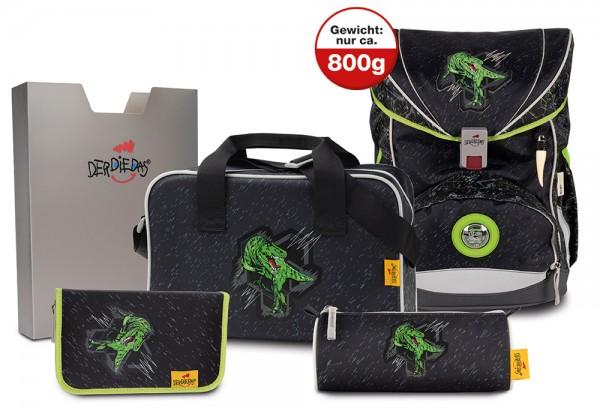 DerDieDas ErgoFlex XL Schulranzen-Set 5tlg. Rex
