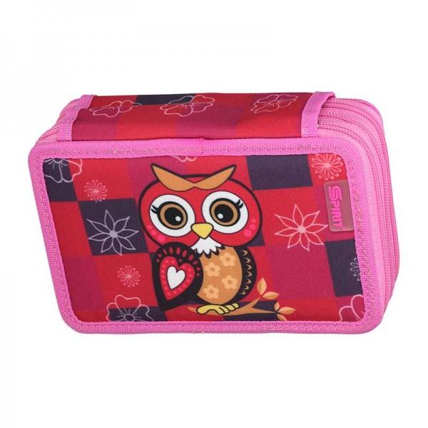 3-fach Federmäppchen Spirit Owl