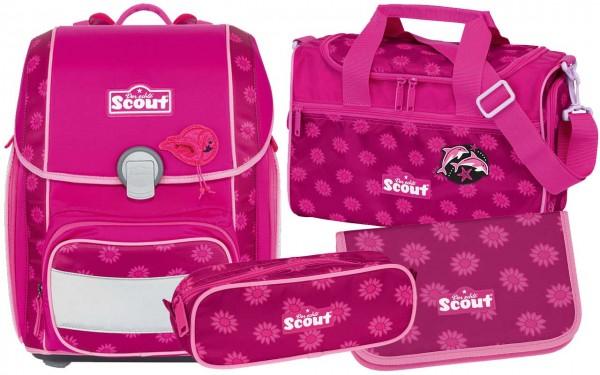 Scout Genius Schulranzen-Set 4tlg. Pink Daisy
