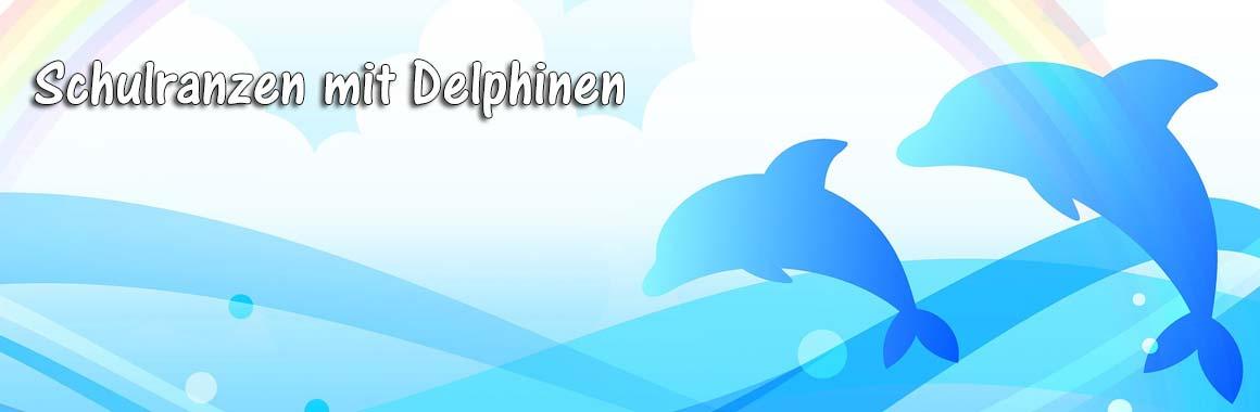 Schulranzen mit Delphinen