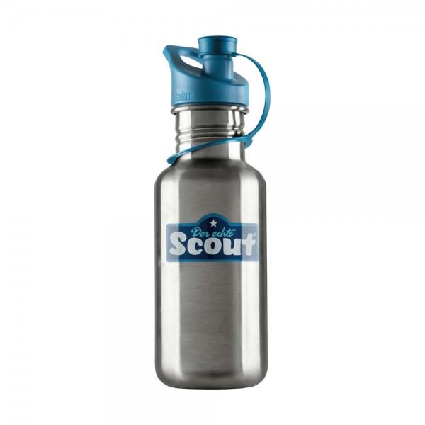 Scout Trinkflasche Edelstahl Blau