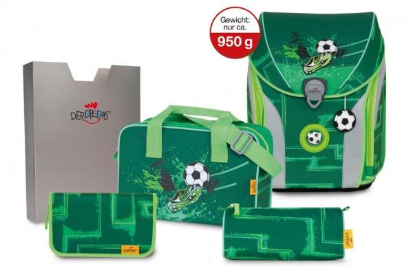 DerDieDas ErgoFlex MAX Schulranzen-Set 5tlg. Green Goal