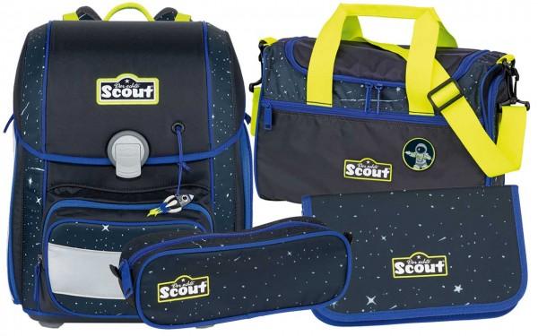 Scout Genius Schulranzen-Set 4tlg. Space