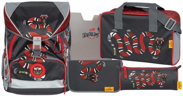 DerDieDas ErgoFlex XL Schulranzen-Set 5tlg. Snake