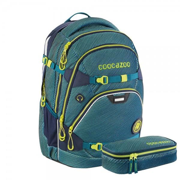 Coocazoo Schulrucksack-Set ScaleRale FreakaSneaka Chameleon Blue
