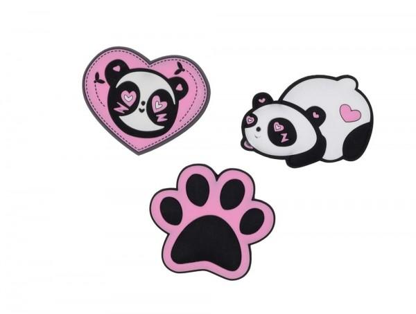 DerDieDas Buttons 3-teilig Pink Panda