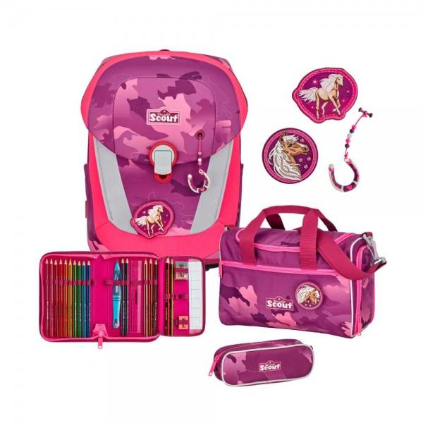 Scout Sunny II Schulranzen-Set 4tlg. Pink Horse