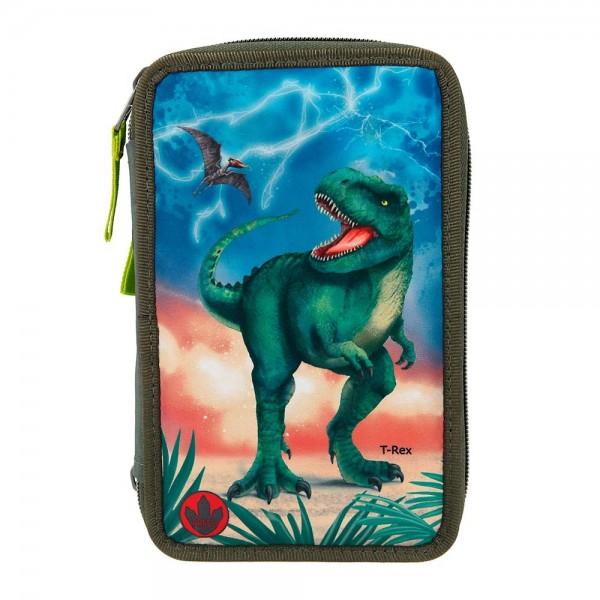 3-fach Federmäppchen Depesche Dino World T-Rex (mit Licht)
