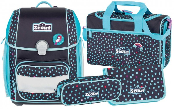 Scout Genius Schulranzen-Set 4tlg. Tropical