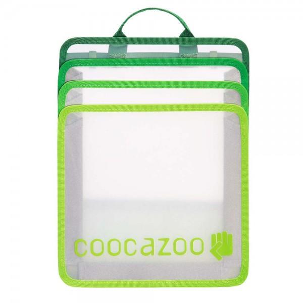 "Coocazoo Faltbare Heftbox ""CheckBag"", Transparent Green"