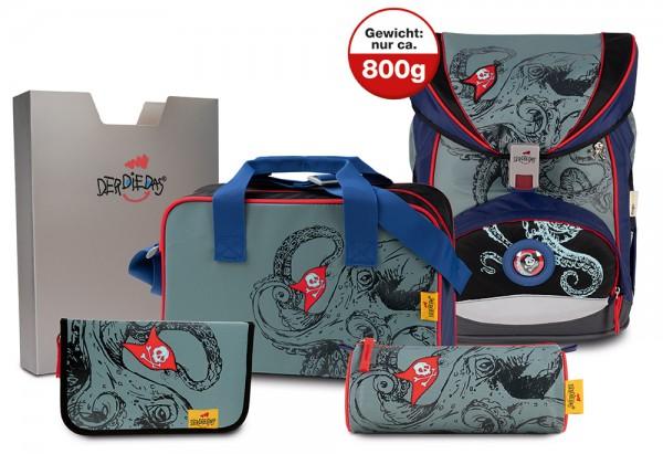 DerDieDas ErgoFlex XL Schulranzen-Set 5tlg. Octopus