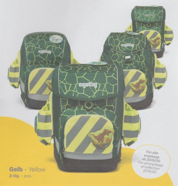 Ergobag Seitentaschen Zip-Set 3tlg. mit Reflektorstreifen in leuchtgelb