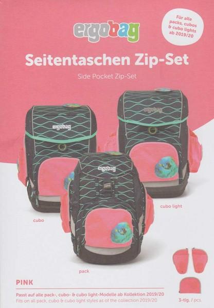 Ergobag Seitentaschen Zip-Sicherheitsset 3-teilig (Pink)