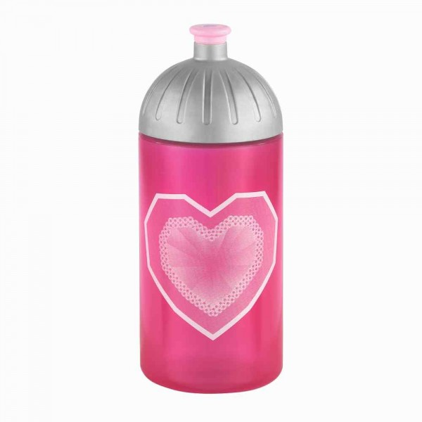 Step by Step Trinkflasche Glitter Heart