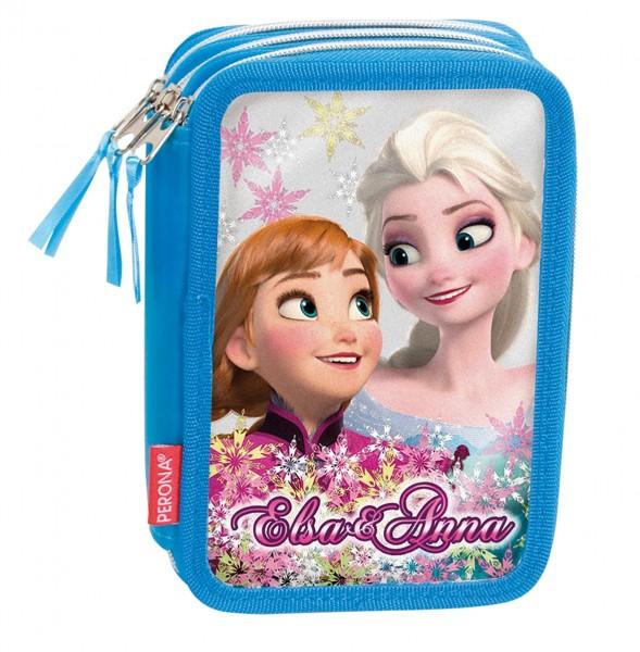 Federmäppchen 3-fach Disney Frozen (Elsa und Anna)