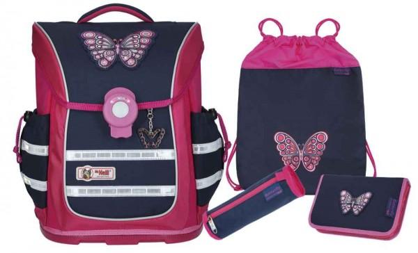 McNeill Ergo Pure Flex 4tlg. Schulranzenset Butterfly