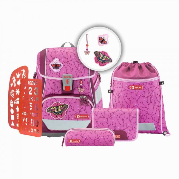 Step by Step 2in1 Plus Schulranzenset 6tlg. Butterfly Lina