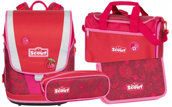 Scout Ultra Schulranzenset 4tlg. Cherry Red