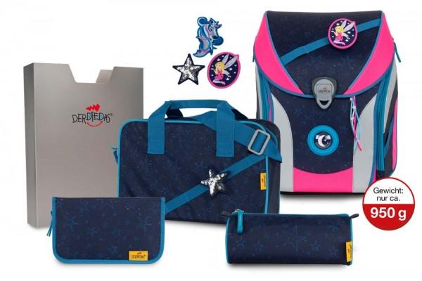 DerDieDas ErgoFlex MAX Buttons Schulranzen-Set 5tlg. Blue Fairy