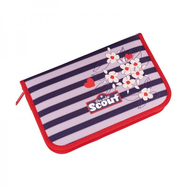 Scout Etui Federmäppchen 23tlg. Happy Stripes