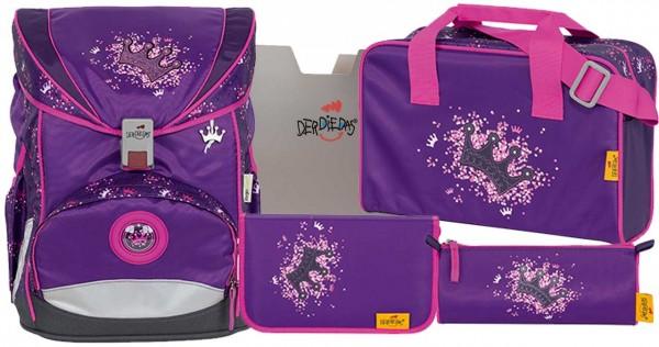 DerDieDas ErgoFlex Schulranzen-Set 5tlg. Purple Princess