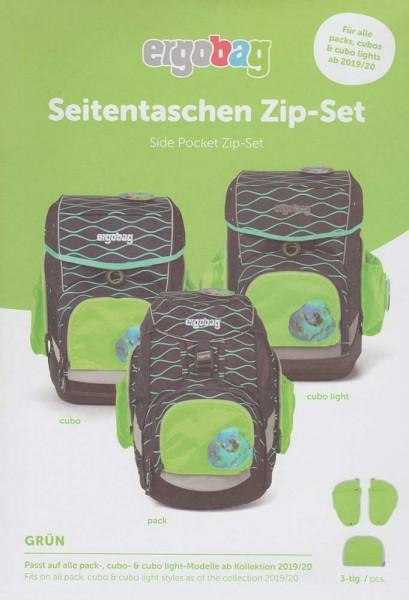 Ergobag Seitentaschen Zip-Sicherheitsset 3-teilig (Grün)