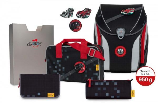 DerDieDas ErgoFlex MAX Buttons Schulranzen-Set 5tlg. Speed Power