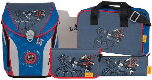 DerDieDas ErgoFlex MAX Schulranzen-Set 5tlg. Power Ninja