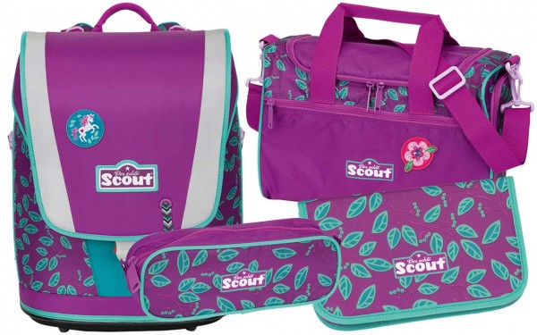 Scout Ultra Schulranzenset 4tlg. Lilac Leaves