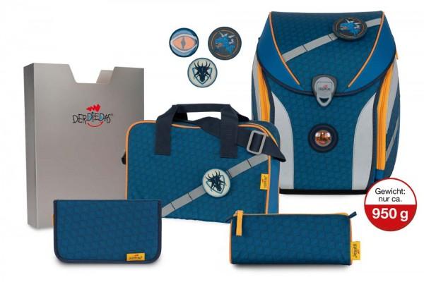 DerDieDas ErgoFlex MAX Buttons Schulranzen-Set 5tlg. Dragon Eye
