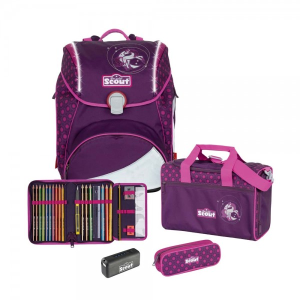 Scout Alpha Safety Schulranzen-Set 4tlg. Moonlight Pony