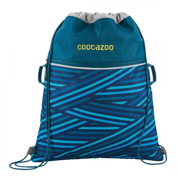 Coocazoo Sportbeutel Turnbeutel RocketPocket2 Zebra Stripe Blue