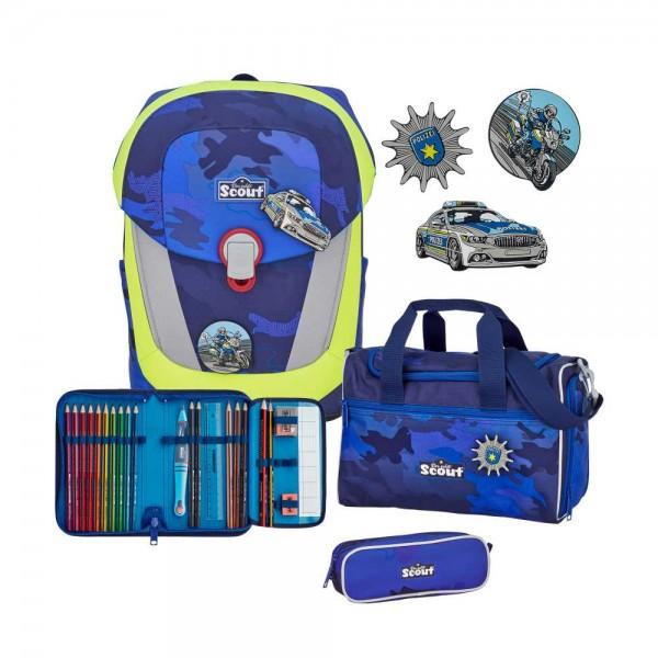 Scout Sunny II Schulranzen-Set 4tlg. Blue Police