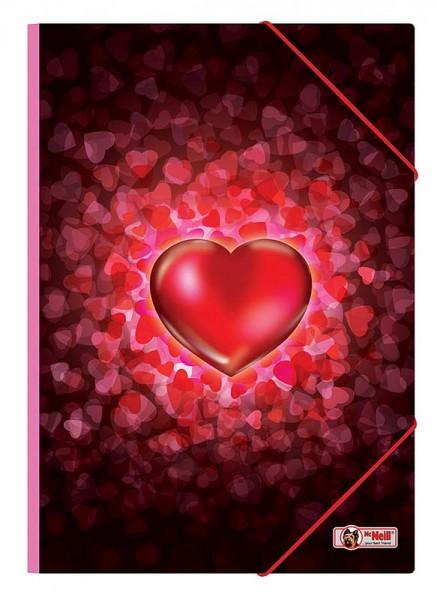 McNeill Gummizugmappe A4 Heartbeat