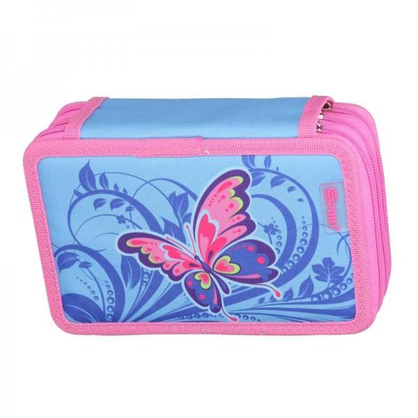 3-fach Federmäppchen Spirit Butterfly Schmetterlinge