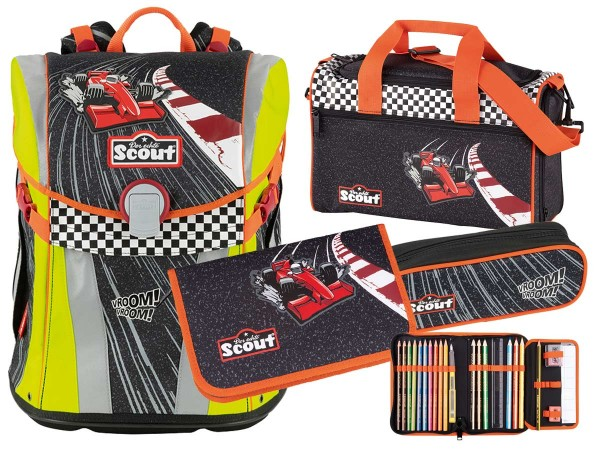 Scout Sunny Schulranzen-Set 4tlg. Red Racer