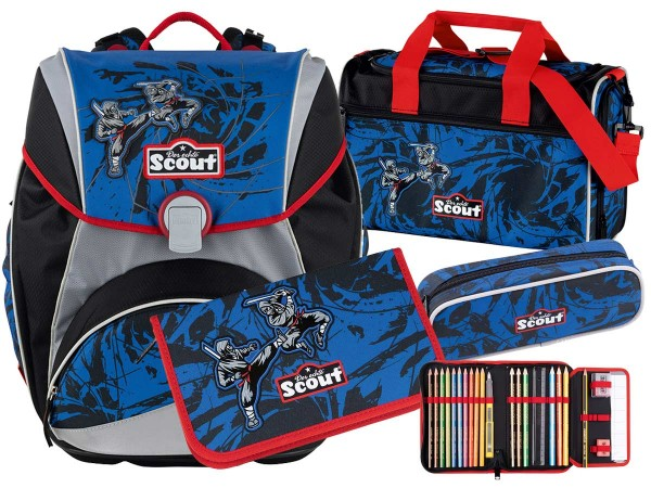 Scout Alpha Schulranzen-Set 4tlg. Warrior