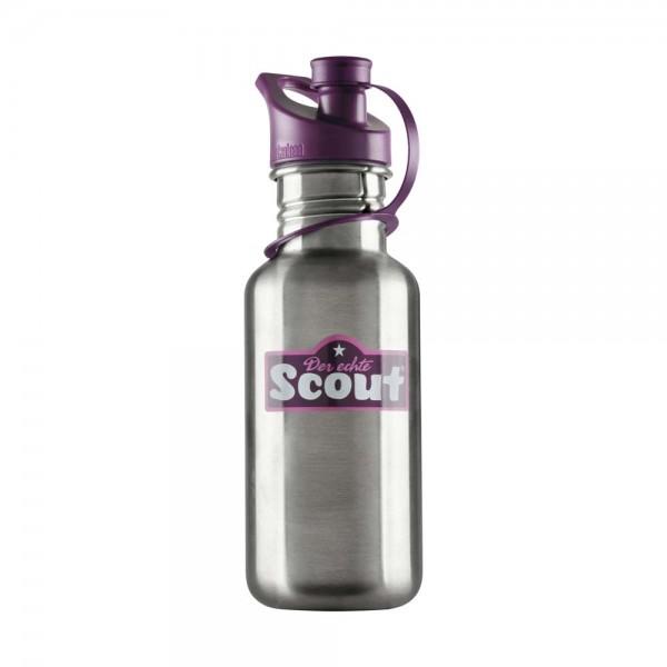 Scout Trinkflasche Edelstahl Violett
