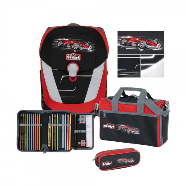 Scout Sunny II Schulranzen-Set 4tlg. Premium Monza