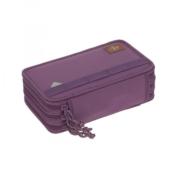 Lässig 3-fach Federmäppchen Unique Purple