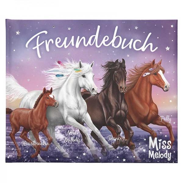 Freundebuch Miss Melody mit Pferden