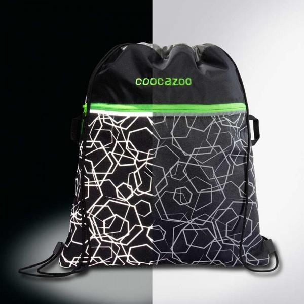 Coocazoo Sportbeutel Turnbeutel PocketRocket LaserReflect Solar Green