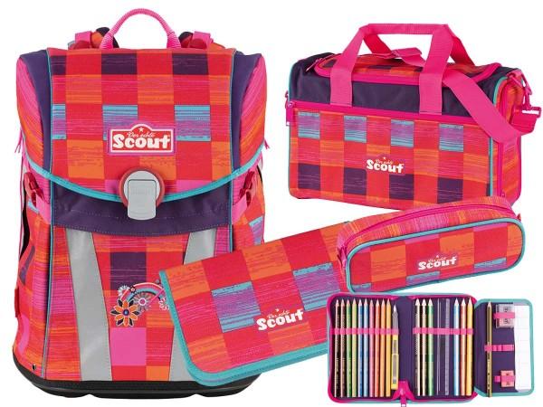 Scout Sunny Schulranzen-Set 4tlg. Pink Rainbow