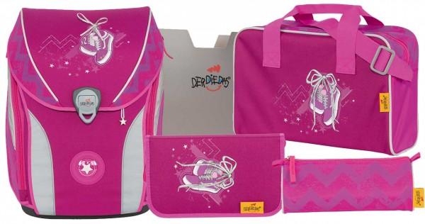 DerDieDas ErgoFlex MAX Schulranzen-Set 5tlg. Pink Sneaker