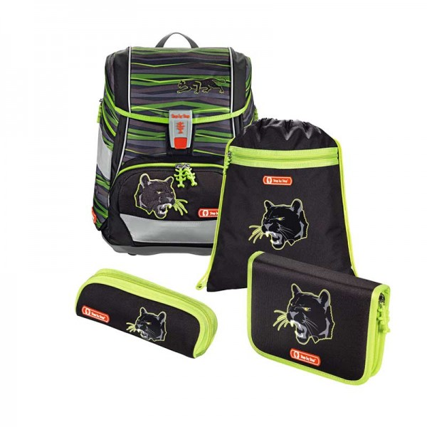 Step by Step 2in1 Schulranzenset 4tlg. Motiv Wild Cat