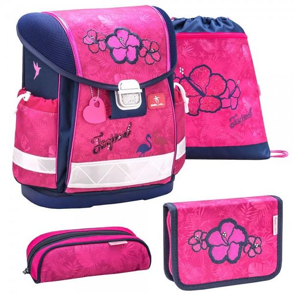 Belmil Classy Schulranzenset 4-teilig Tropical Pink