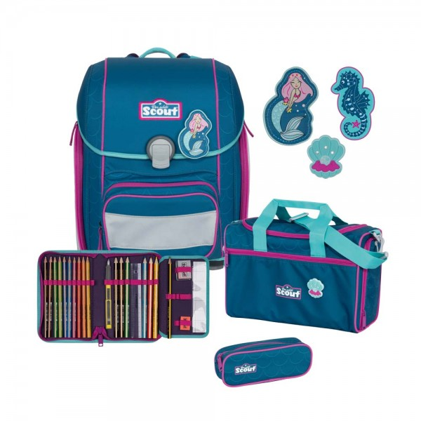 Scout Genius Schulranzen-Set 4tlg. Mermaid
