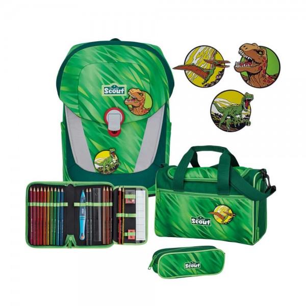 Scout Sunny II Schulranzen-Set 4tlg. Green Rex