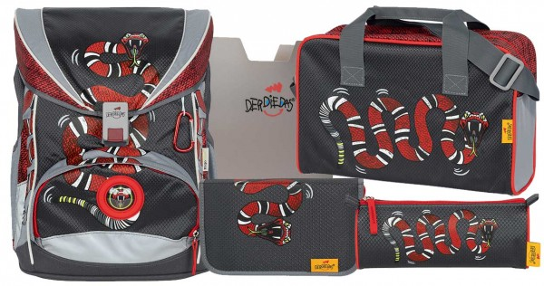 DerDieDas ErgoFlex Schulranzen-Set 5tlg. Snake