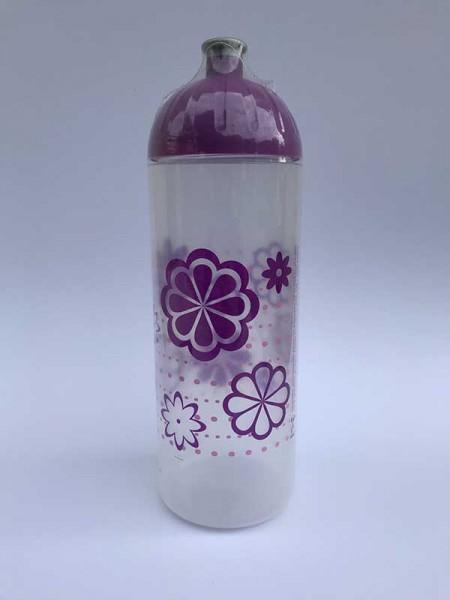 ISYbe Trinkflasche Blumen mit Punkten, Volumen: 0,7L